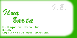 ilma barta business card